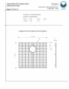 Vigo VGG2018 Kitchen Sink bottom Grid 19 x 17