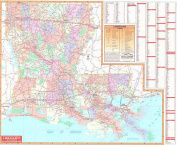 Universal Map 24623 Louisiana Wall Map - Roller