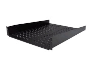 2U 22in Vented Rack Mount Shelf - Fixed Server Rack Cabinet Shelf - 50lbs / 22kg