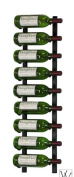 Wine Master Cellars WS31-K VintageView WS3 Series Nine Bottle Wall Mounted Wine Rack - Black