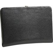 Budd Leather 551856L-26 Framed Lizard Print Calf Skin Photo Case - Fuchsia