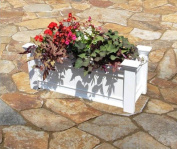 New England Arbours Rectangle Vinyl Windsor Patio Planter