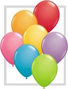Qualatex 13cm Round Balloons, Festive Assortment - Pack of 20