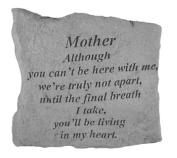 Kay Berry- Inc. 15720 Mother Although You Can-t Be Here - Memorial - 5.25 Inches x 5.25 Inches