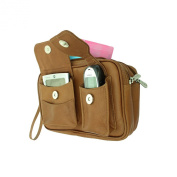 Piel Leather 2283 Carry-All Bag- Saddle