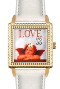 Arjang & Co PS-2004G-BE Love Cupid Square Gold coloured -Watch