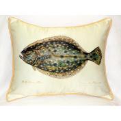 Betsy Drake HJ014 Flounder Art Only Pillow 15x22