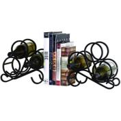 Oenophilia 10005 Scroll Bookends 6 Bottle Wine Rack
