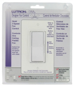 Lutron Electronics 3 Speed White Diva Quiet Fan Control DVFSQ-FH-WH
