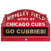 Caseys Distributing 3208569578 Chicago Cubs Wood Sign- Red