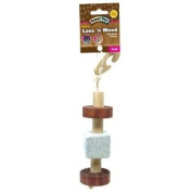 Super Pet 276842 Super Pet Natural Pumice And Wood Hanging Toy