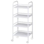 Blue Hills Studio SH4WH 4-Shelf Storage Cart - White
