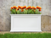 MAYNE 5826W Fairfield 20x36 Patio Planter- White