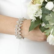 Lillian Rose JL110 11 Rhinestone Bracelet