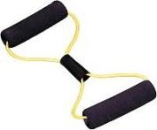 Cando 10-5581 Exercise Tubing BowTie Exerciser - 22 Inch - Yellow - X-Easy