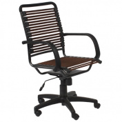Eurostyle 02570BRN Bungie Flat High Back Office Chair - Brown-Graphite Black