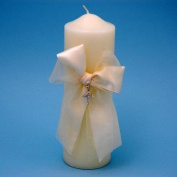 Beverly Clark 38PIT Grace Pillar Candle in Ivory