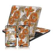 DecalGirl MATX-ORNGRYFLWR Motorola Atrix 4G Skin - Orange and Grey Flowers