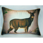 Betsy Drake HJ236 Deer in Snow Art Only Pillow 15x22