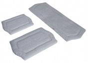 Chesapeake Merchandising 43260 3 Piece Paradise Memory Foam Bath Rug Set - Ivory