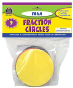 Teacher Created Resources TCR20611 Foam Fraction Circles
