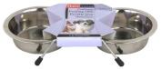 Hartz Living Stainless Steel Pet Feeding Dishes 98776
