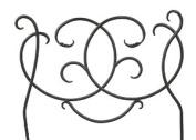 Achla DFS-02 Scroll Decorative Garden Edging and Fencing - Black Powdercoat