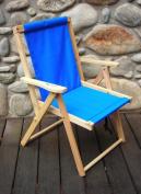 Blue Ridge Chair Works DFCH05WA Highlands Deck Chair - Atlantic Blue
