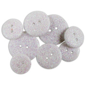 Blumenthal Lansing 482340 Favourite Findings Glitter Buttons-Frost Opaque