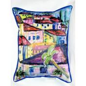 Betsy Drake HJ557 Longhorn Steer Art Only Pillow 15x22