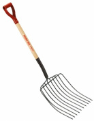True Temper Garden Tools 80cm . 10-Tine Ensilage Fork with D-Handle 18295