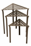 Achla Designs Tables Triangular Wrought Iron Nesting Tables (Set of 3) Roman Bronze WTN-01