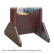 Safco 4332MH Mahogany Wood Display Base- Mahogany