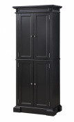 Home Styles 5004-694 Americana Pantry Storage Cabinet, Black Finish
