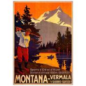 Trademark Commerce V8066-C1824GG Montana - Framed Canvas Art 18 x 24