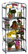 Flowerhouse FHPT400CL 63 in. X 27 in. X 19 in. 4 Shelf Plant Tower