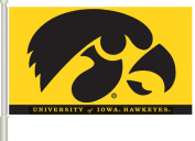 Bsi Products 97024 Car Flag W/Wall Brackett - Iowa Hawkeyes