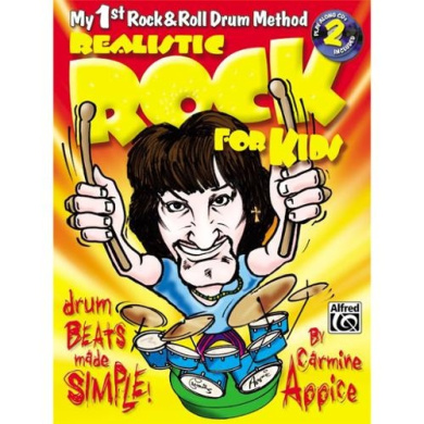 Alfred 00-0663B Realistic Rock for Kids- My 1st Rock& Roll Drum Method - Music Book