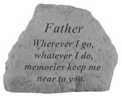 Kay Berry- Inc. 16520 Father Wherever I Go-Whatever I Do - Memorial - 6.5 Inches x 4.75 Inches