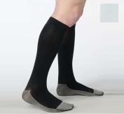 Juzo 2001RIADFFSH06 I Soft Ribbed Silver Sole Men's Knee Highs 20-30 mmHg Short - White