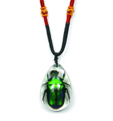 ED SPELDY EAST PSB1103 Necklace Clear Tear Drop Green Chafer