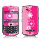 DecalGirl B965-RETROFLOWER-PNK BlackBerry Bold 9650 Skin - Retro Pink Flowers