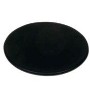 Dacasso A1054 Black Leatherette Round Coaster