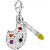 Doma Jewellery DJS01568 Sterling Silver Crystal Charm - Paint Palatte