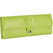 Budd Leather 290855-39 Pebble Grained Leather Jewel Roll - Lime
