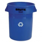 Rubbermaid Commercial Products RCP263273 Recycling Container- Heavy-duty- 121.1l- 55.9cm .x55.9cm .x27-.63.5cm .- Blue