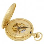 Charles-Hubert- Paris 3861-G Gold-Plated Mechanical Pocket Watch - Gold