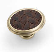 Strategic Brands 12194 1. 160cm Oval Knob-Satin Brass - Brown