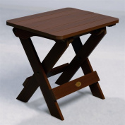 Highwood AD-TBS1-ACE Folding Adirondack Side Table - Recycled eco-friendly synthetic wood in weathered acorn color - Weathered Acorn