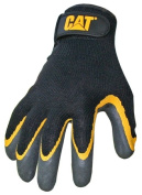 Cat Gloves Rainwear Boss Mfg CAT017415L Large Yellow & Black Double Coated Text